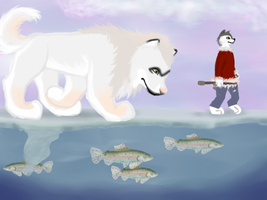 Sif Fishing 03 by magikwolf