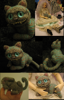 Tim Burton's Cheshire -Felted by tallydragon