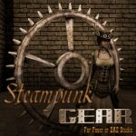 Steampunk Gear for Poser by Kethaera