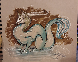 Puddle Dragon by eychanchan