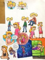 Helga  Arnold doodle page 1 by ImperialWood