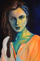 Vanished into the blue, 120-80 cm, 2017, oil by oanaunciuleanu