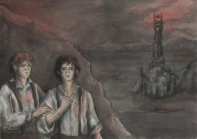 Frodo and Sam in Mordor by AnotherStranger-Me