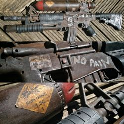 post apocalyptic M16 2 by steelgohst