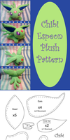 Chibi Espeon Plush Pattern by altaiira