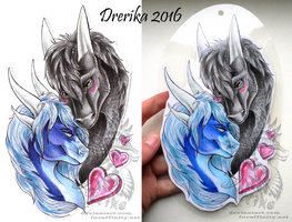 AT: Samantha and Dreit badge by Drerika