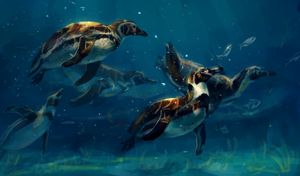 penguins by AlaxendrA
