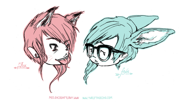 Fox and Fawn by Twelfthgecko