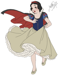 Snow White .Half Finished. by dwightyoakamfan