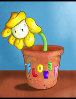 Flowey Doesn't Like His New Decorations by SuperBecky