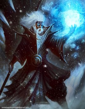 Ice Mage by TomEdwardsConcepts