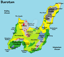 The continent of Barotan (Totheia) by Kormyou