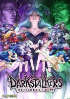 Darkstalkers Resurrection Key Art by Artgerm