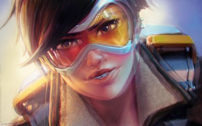Tracer - Overwatch Wallpaper - Insane 51 Inspired by fantasio
