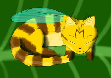 Sleeping CatBee by rys-ostrovid
