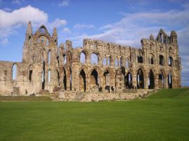 Whitby Abbey 1 by MyScarredHeart