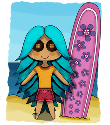 Surfer Doll by pen-it-black