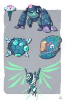 IHM concepts - Golems by MattCarberry