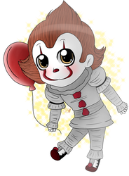Pennywise the dancing clown~! [Chibi] by OrcaArtzz