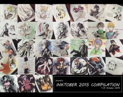 Inktober 2015 Compilation by jheaa