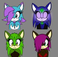 Sonic Girl Adoptables by ShadKiaraGal