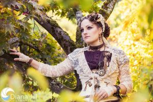 Steampunk Autumn Sun by AyraLeona