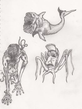 monster sketches 1 by MrBarta