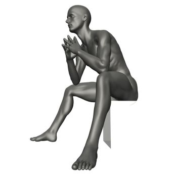Male Seated Reference 4 by posevault