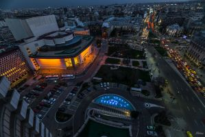 Romania for ever - Bucharest night envelope by Rikitza