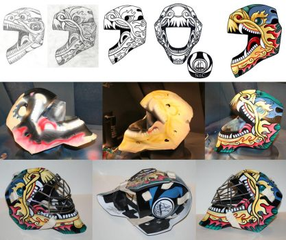 Chinese Dragon Goalie Mask design by TheFool432