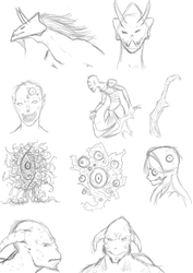 Sketches for the day (September 8) by MessatanienCarder