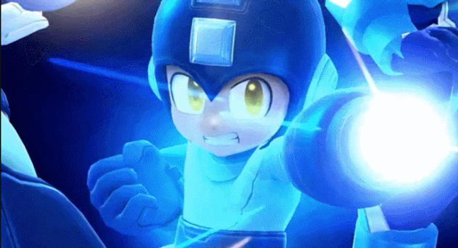 SSB Mega man Final Smash gif by kiraDaidohji