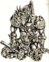 Aging Orc Warrior by Makrura