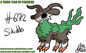 A third year of pokemon: #672 Skiddo