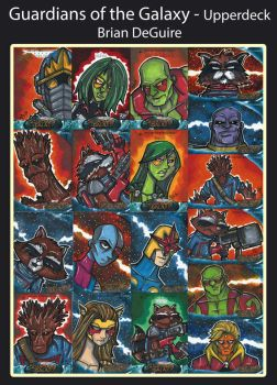 Guardians of the Galaxy Sketch Cards by bdeguire