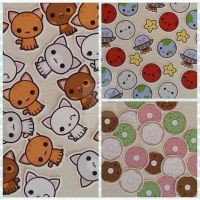 Kawaii sticker sets kitties space and doughnuts by peppermint-pop-uk