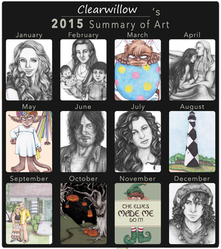 2015 Summary of Art by ClearWillow