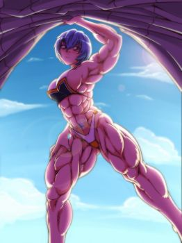 Rei Muscle by gamera1985