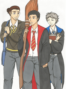 Third years from Hogwarts by Punkkis-chan