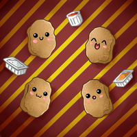 Cute Food- Chicken Nuggets by PPGxRRB-FAN