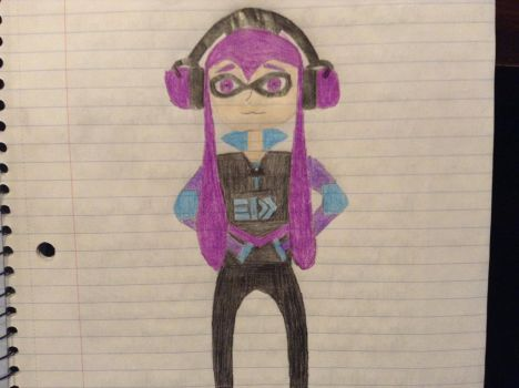 Splatoon OC: Inku Arashi by Scp-7376
