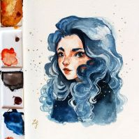 A Blue Girl by Ludmila-Cera-Foce