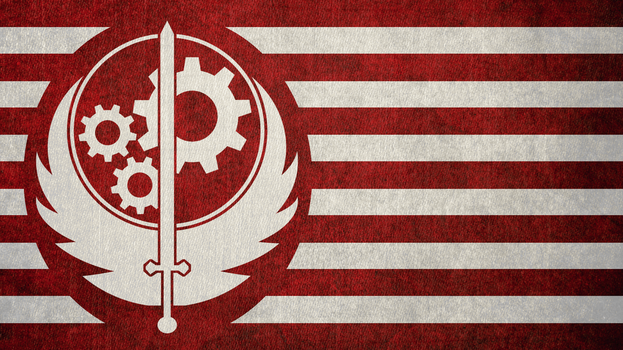 FALLOUT: Flag of the Brotherhood of Steel by okiir