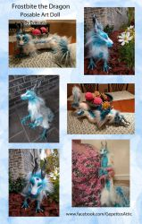 Frostbite the Dragon Posable Art Doll by Eviecats