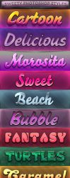 FREE Sweety Photoshop Styles by KoolGfx
