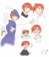 ron weasley sketches by Looby-the-Pirate