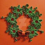 Quilled Christmas Wreath by LeonieIsaacs