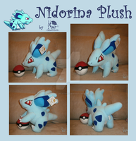 Nidorina Plush Commission by Ishtar-Creations