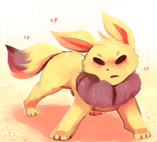 The Pikachu-Colored Eevee by honrupi