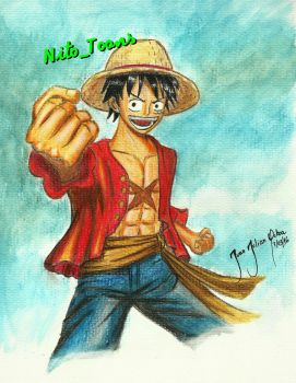 Luffy - One piece by Nito-Toons